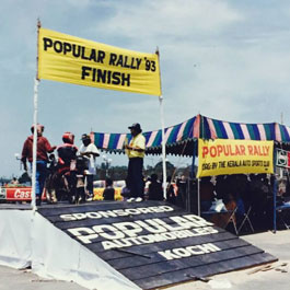 Popular rally results, podium